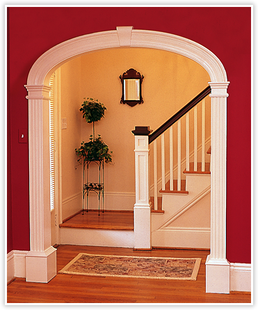 Curvemakers patented arch kits wood arches    arched doorways and openings interior archways diy curved moulding trim also how to create an archway kitchen remodel home decor moldings rh pinterest
