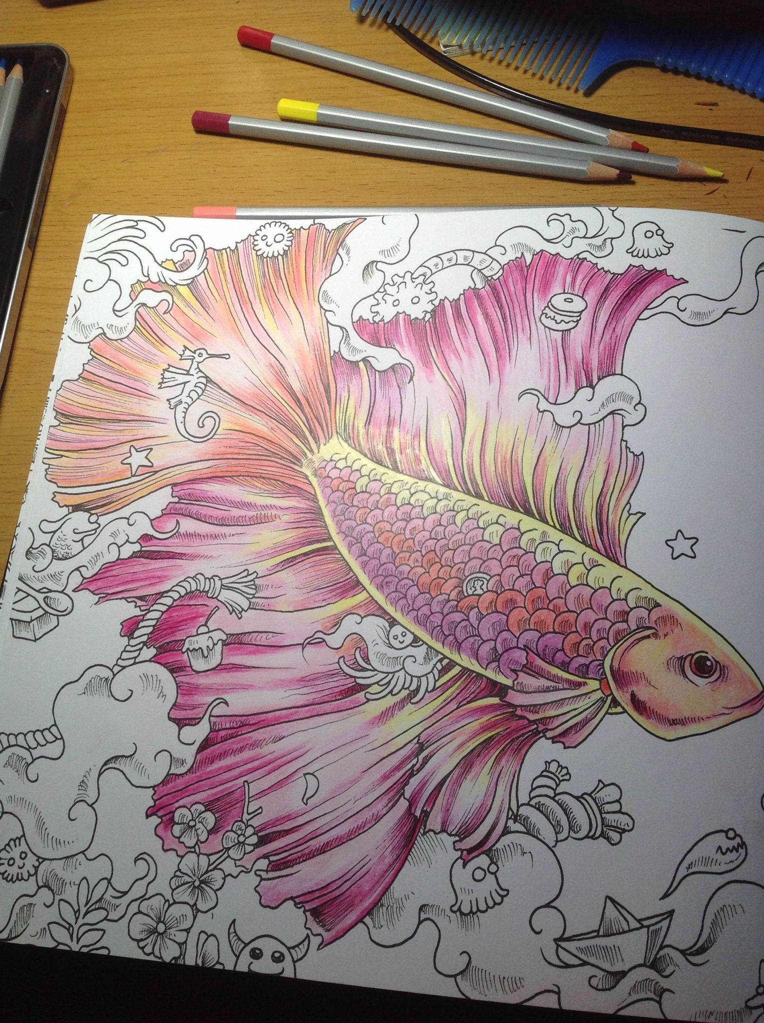 Animorphia Coloring Fish Animorphia Coloring Book Animorphia Coloring Coloring Books