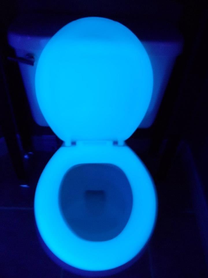 Blue Glow In The Dark Toilet Seat Http Www Facebook Com