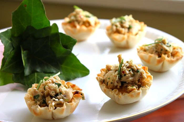 Asian Chicken Salad Tartlets Easy Appetizers Pinterest Asian