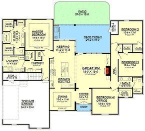 Plan 51701HZ: Flexible Acadian House Plan With Bonus Room ...
