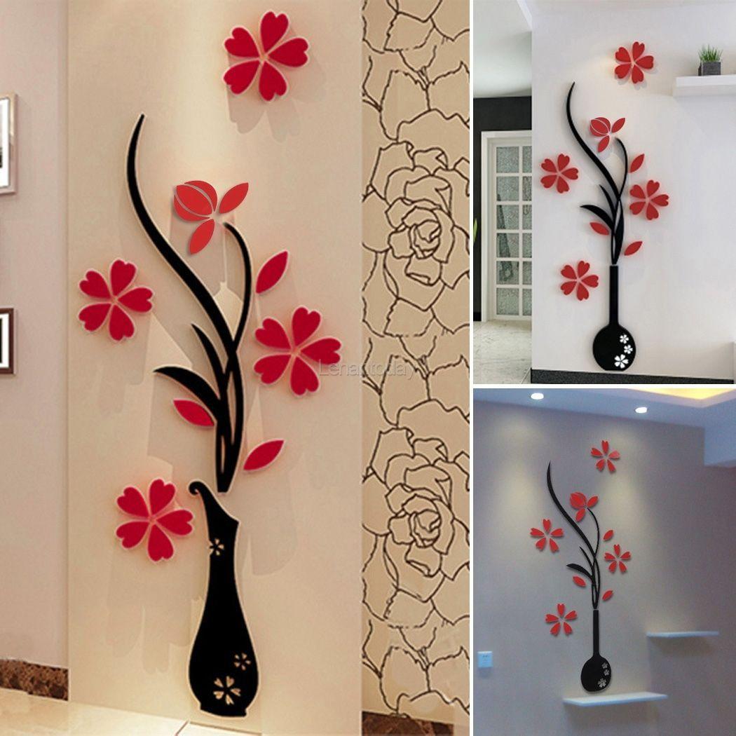 3D Fiore Specchio Stickers Murali Adesivi Arte Camera Casa Vinile  Decorazione FOR SALE U2022 EUR 2