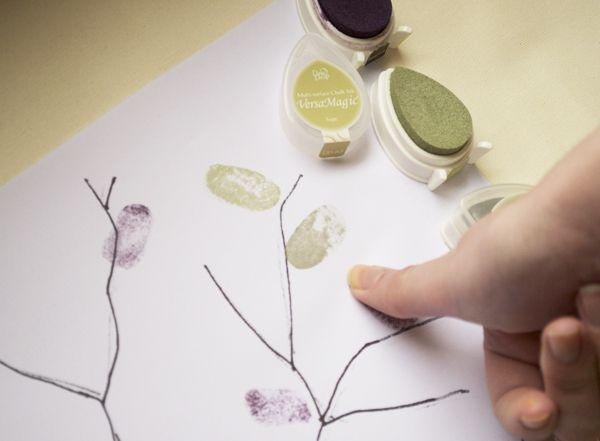 Wedding DIY Fingerprint Tree Template to Download Print – Sample Guest Book Template