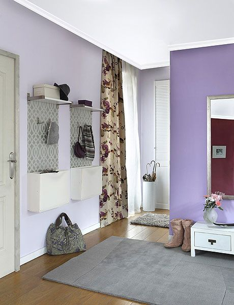 Light Purple Wall With Deeper Purple Accent Wall Purple Walls Purple Accent Walls Light Purple Walls
