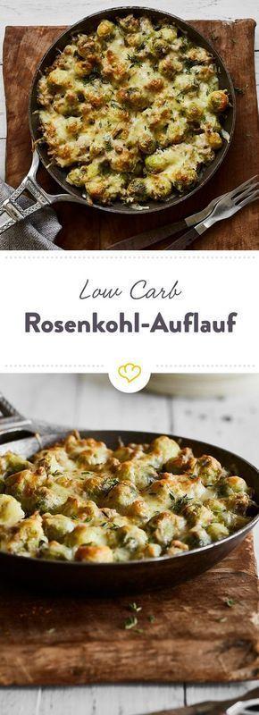 Low Carb Rosenkohl-Käse-Auflauf mit Hackfleisch #lowcarbyum