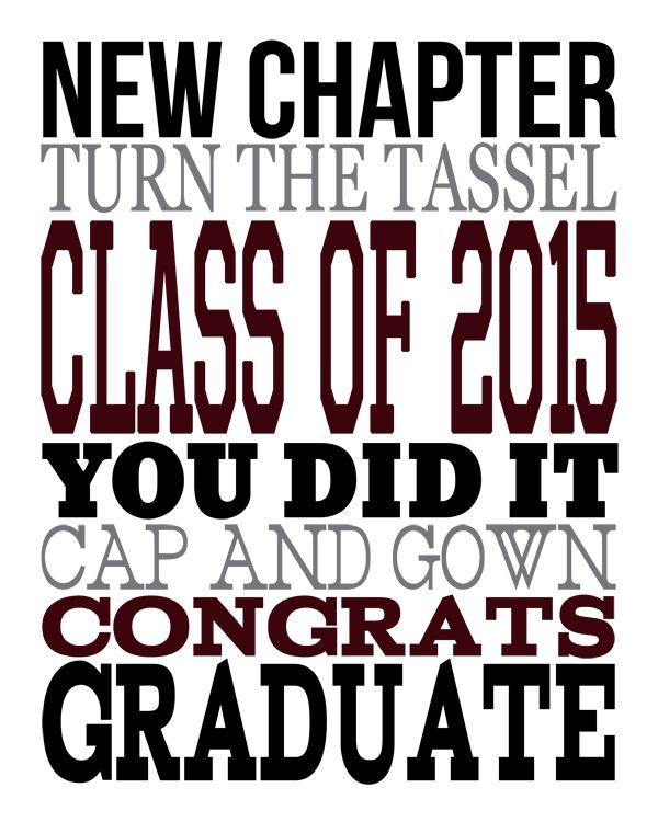2015 Graduation Subway Art Print Me Graduation, Subway art