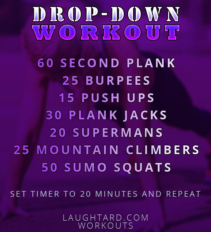 Drop-Down Workout | Fitness | Workout, Intense workout, Drop