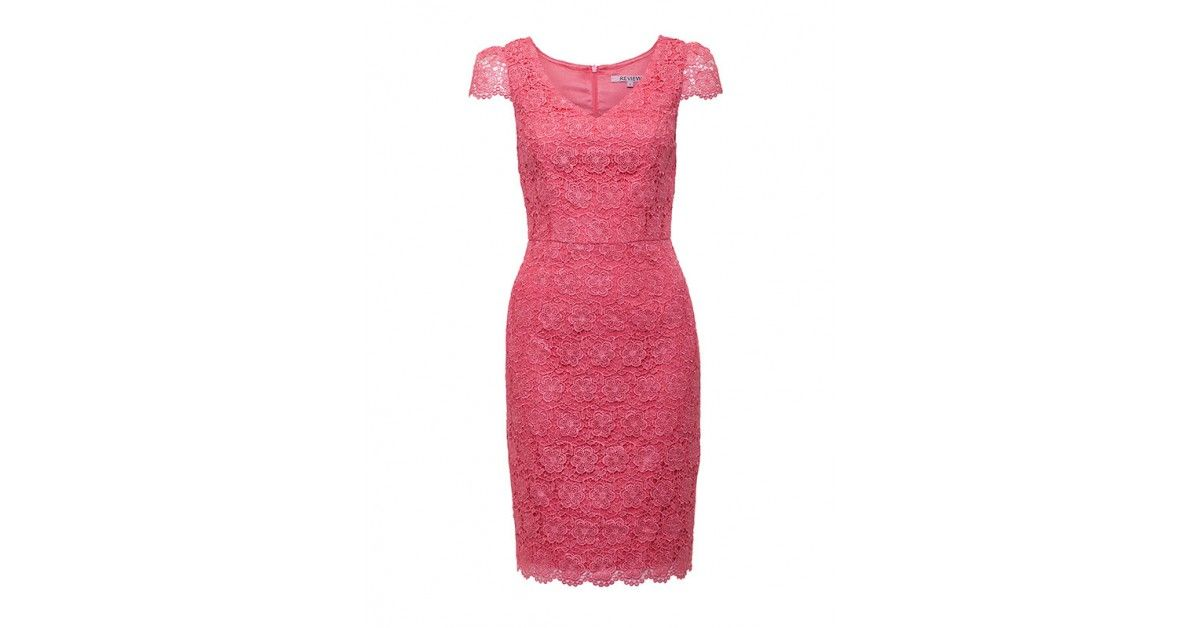 Review Australia | Liana Lace Dress in Coral Coral | Dress | Pinterest