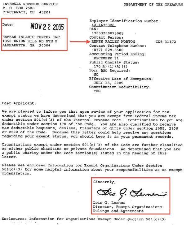 Lois Lerner Caught Granting Muslim Brotherhood Front Groups Tax