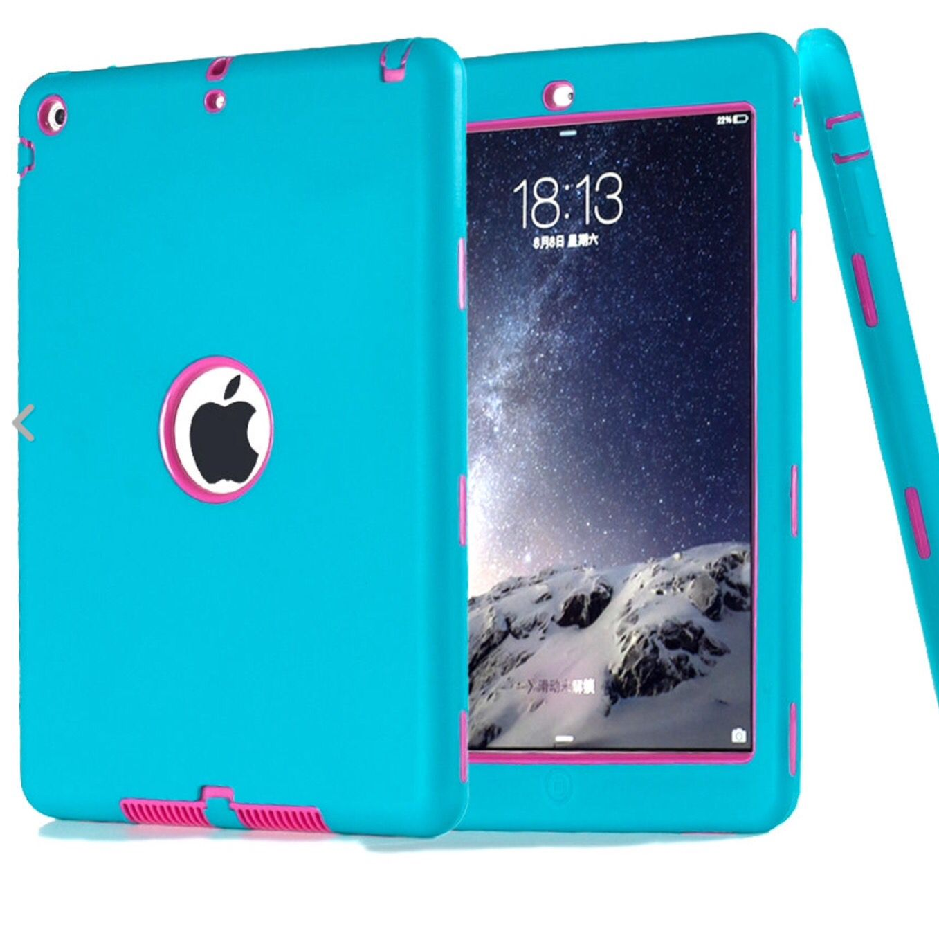 It S A Blue And Pink Ipad Air 2 Cover Well Otterbox