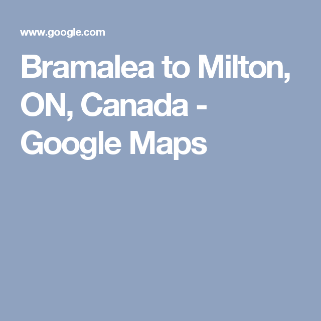 google map directions ontario