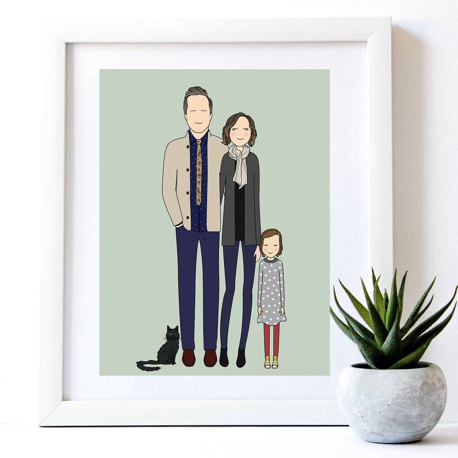 Portrait From Photo Custom Portrait  Personalized Anniversary Gift