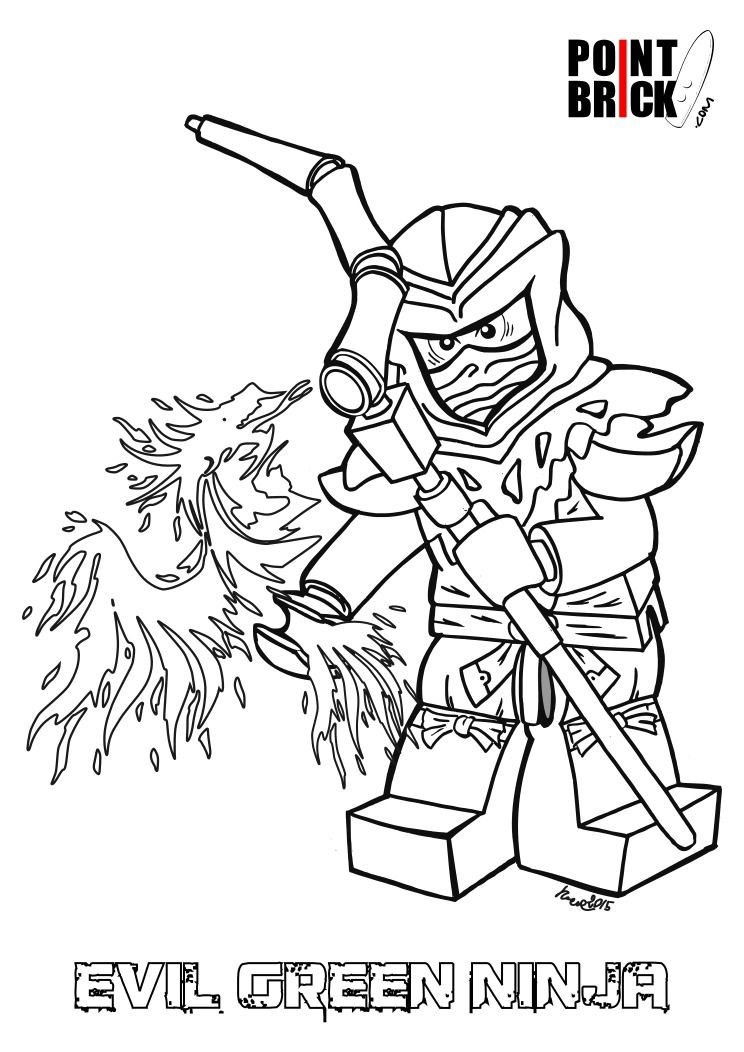 Disegni da colorare lego ninjago lloyd evil green for Ninjago green ninja coloring pages