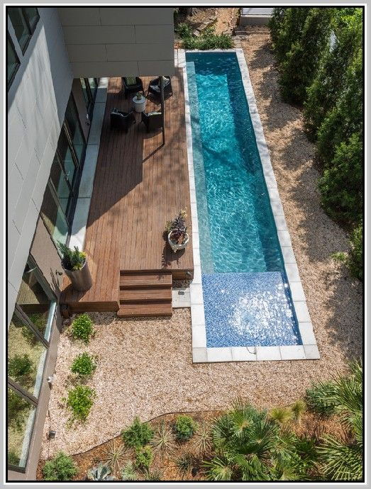 Lap Swimming Pool Design Ideas Asymmetriclappooldesignswithsmalldeck Small Backyard Design Small Backyard Pools Backyard
