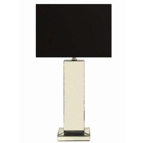 Mirrored Table Lamp   Black Shade