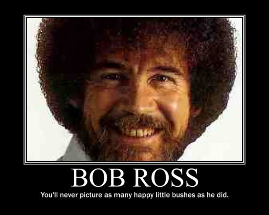Mesmerized for hours laugh it up pinterest bob ross chuck i loved bob ross i always wanted to order his deluxe paint set out of the jc penney catalogue voltagebd Gallery