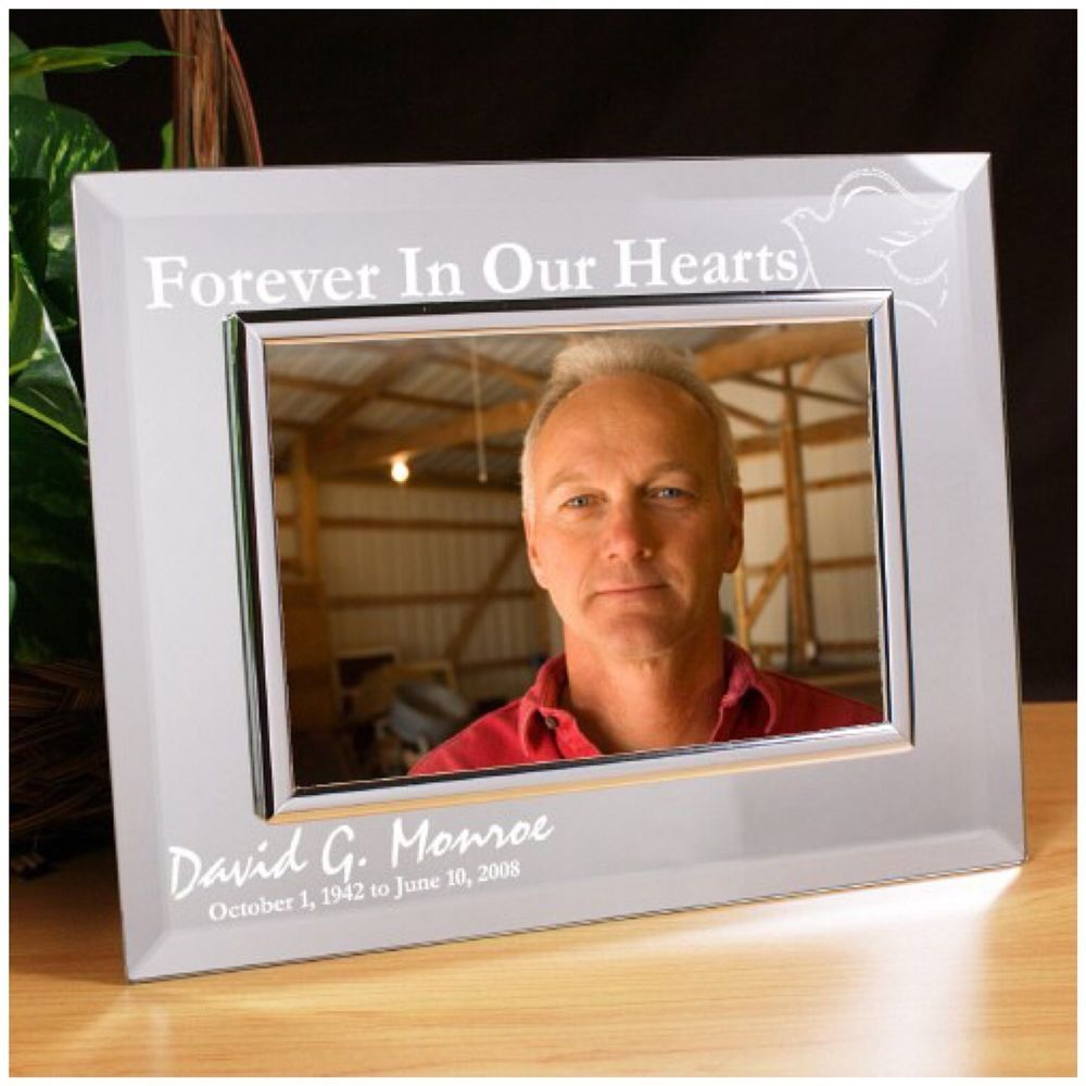 Personalized Memorial Sympathy Gifts Memorial Mirror Picture Frame Pg227149 Mirrored Picture Frames Picture Frames Personalized Picture Frames