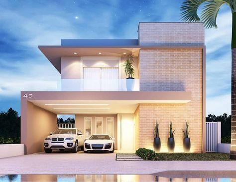 Melhores Fachadas De Casas Modernas Fachadas Casas Moderno