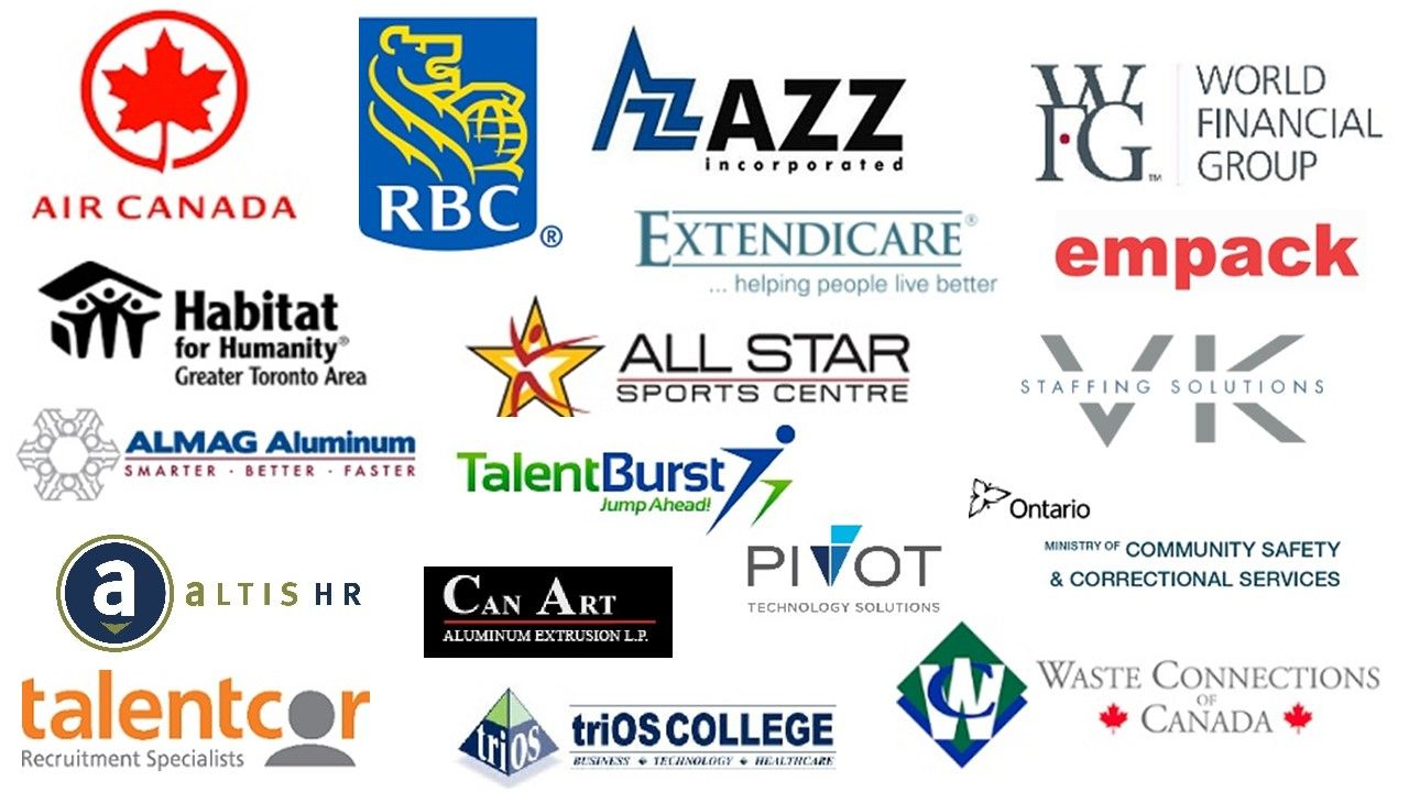 The List of Exhibitors for Brampton Job Fair May 30th