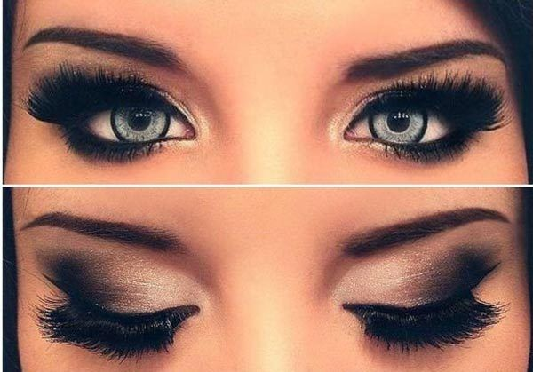 smoky eyes noir smoky eyes maquillage maquillage. Black Bedroom Furniture Sets. Home Design Ideas