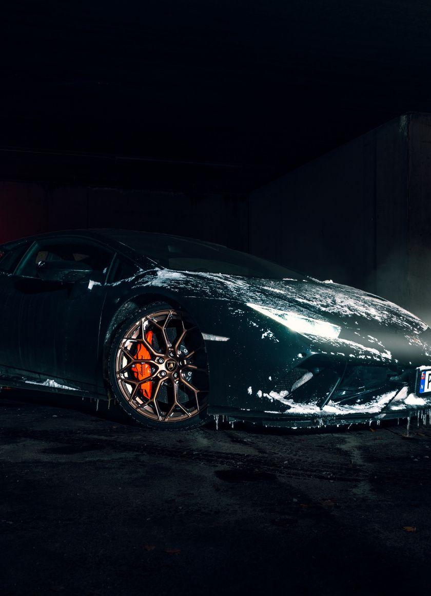 840x1160 Lamborghini Aventador Black Sportscar Wallpaper