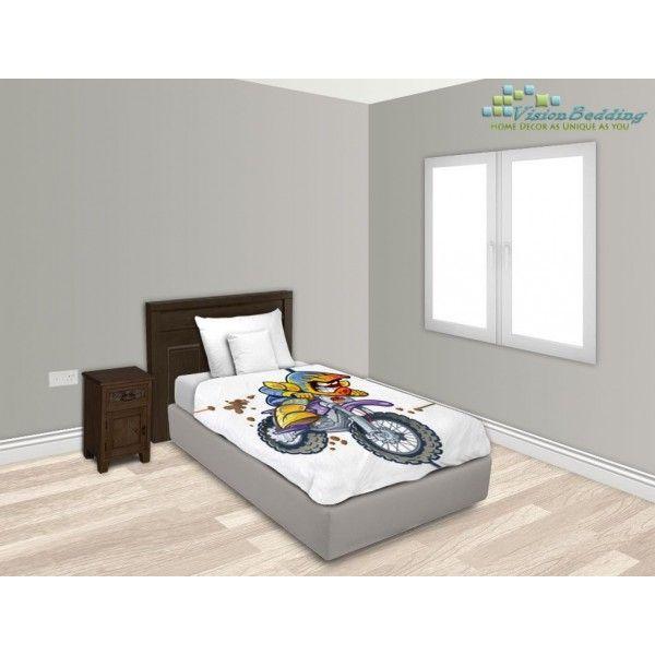 Bmx Dirt Bike Rider Bed Sheet 53885315 | VisionBedding