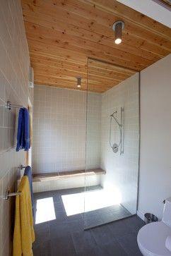 Modern Doorless Shower Design Ideas Pictures Remodel And Decor