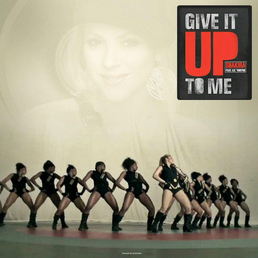 Shakira, Lil Wayne – Give It Up to Me (single cover art)