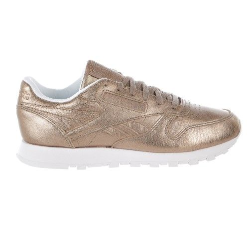 7df8293fba5 Reebok Classic Leather Melted Metal Gold White Women s Running Shoes  BS7898