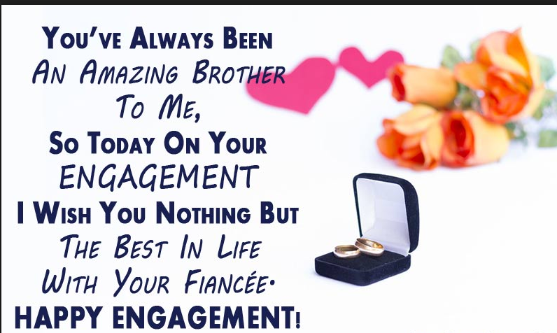 engagement wishes to brother and sister in law
