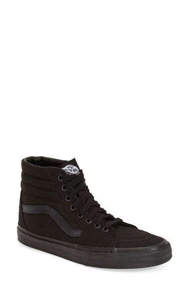 8f69aebca59 Free shipping and returns on Vans  SK8-Hi  Sneaker (Women) at  Nordstrom.com. A blackout finish amps up the cool factor on an iconic skate  sneaker shaped ...