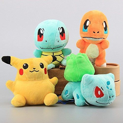 Pokemon Pikachu Bulbasaur Squirtle Charmander Set of 4 pcs Soft Plush  Figure Toy Anime Stuffed Animal Child Gift Doll – Pokemon Toys  Soft toys      buy now ... a769d62579dc