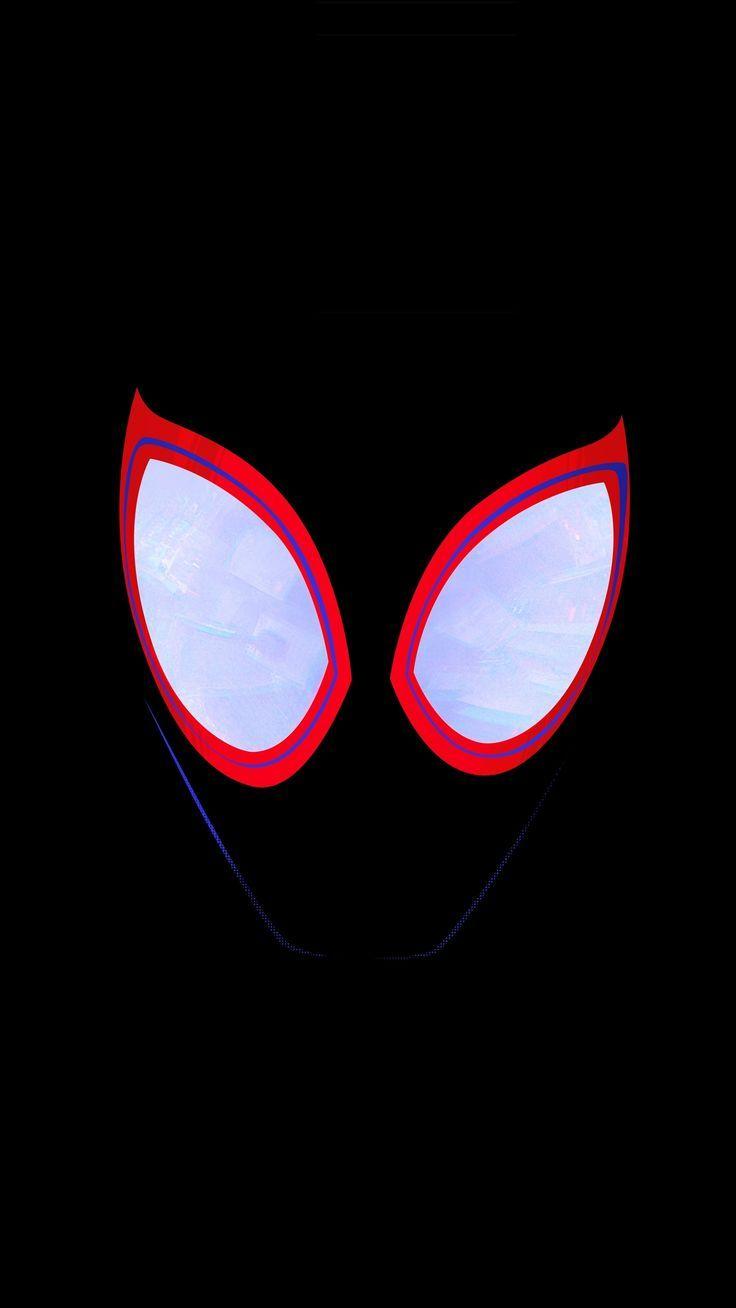 imposing wallpaper Face, dark, eyes, SpiderMan Into the