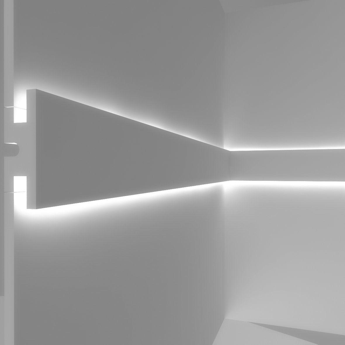Illuminazione Led A Muro cornice per illuminazione indiretta led doppia a parete