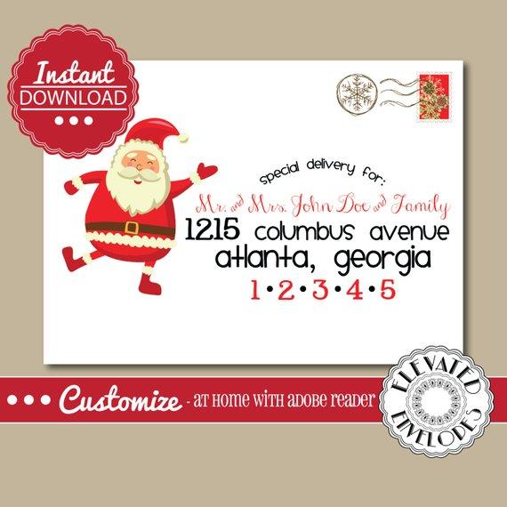 Editable Christmas Envelope Template Templett Christmas Etsy Christmas Envelopes Envelope Template Christmas Envelope Template