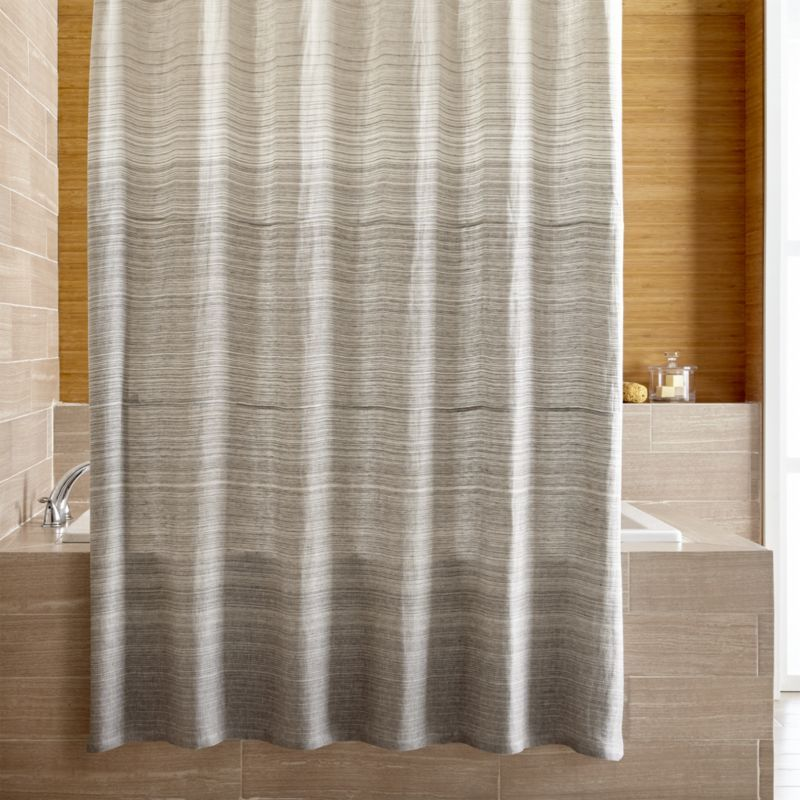 Shop Veres Grey Ombre Shower Curtain Veres Shower Curtain S Soothing Greys Softly Transition From Light To Curtains Cool Shower Curtains Shower Curtain Sizes