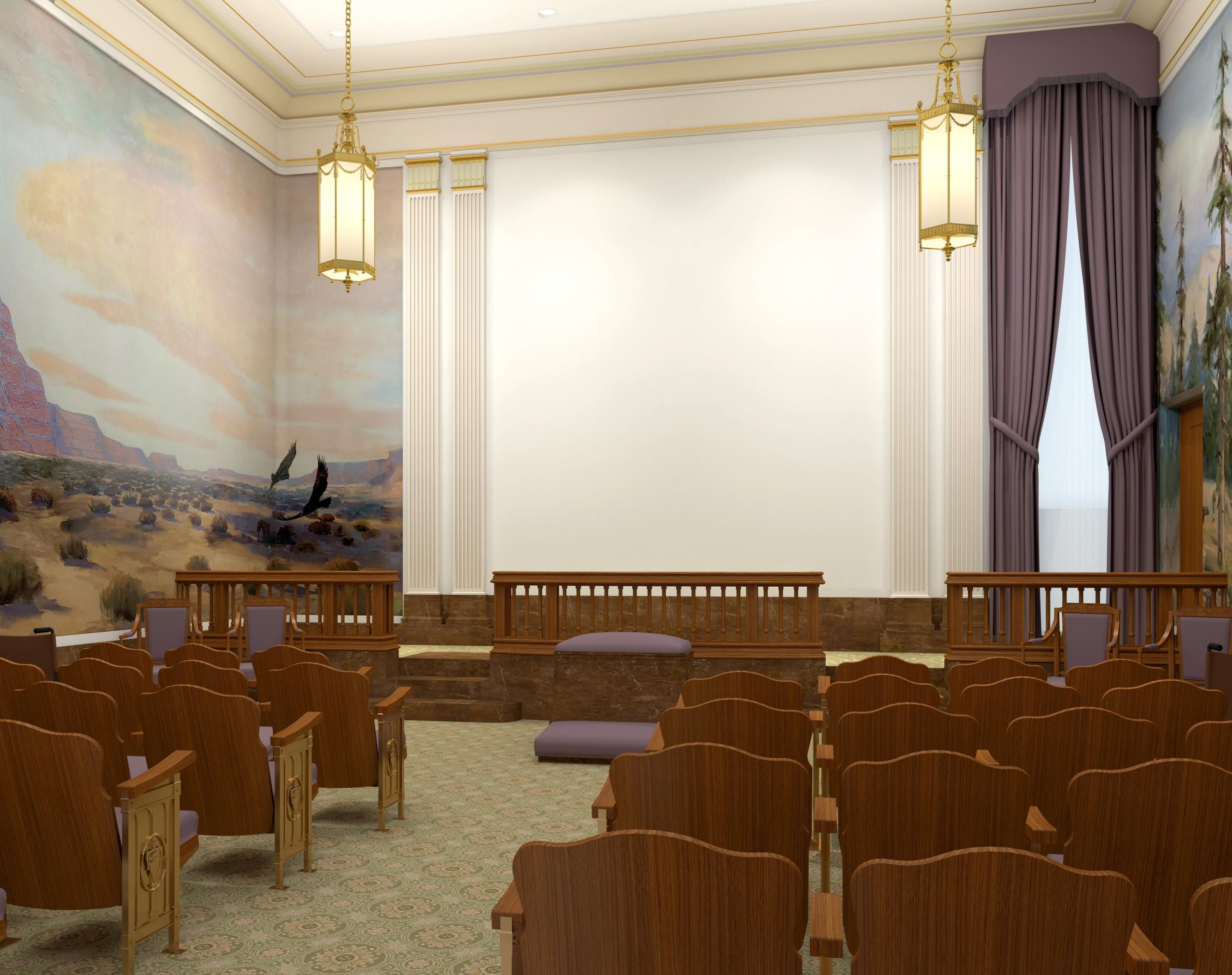 Rendering Of The World Room In The Mesa Arizona Temple Photo The Church Of Jesus Christ Of Latter Day Saints Mesa Temple Temple Church