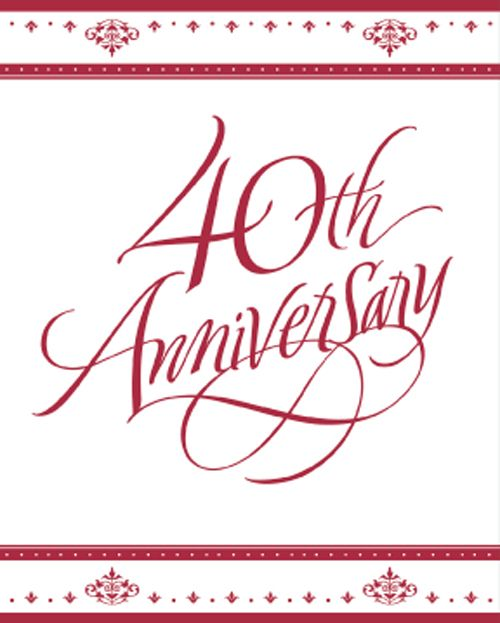 40th Anniversary Bulk Party Invitations Ruby Wedding – Bulk Party Invitations