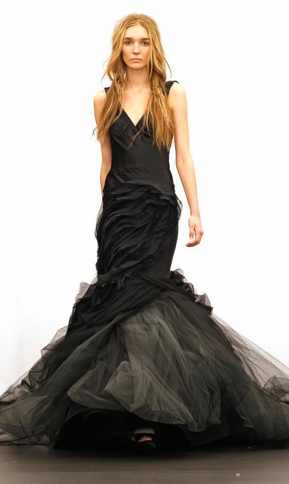 VERA WANG - black BEAUTY #Black #VeraWang | Vera Wang Wedding Gowns ...