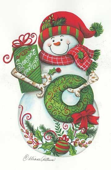 HIVER NOEL country Coffre aux tresors ( D.A) | Christmas snowman