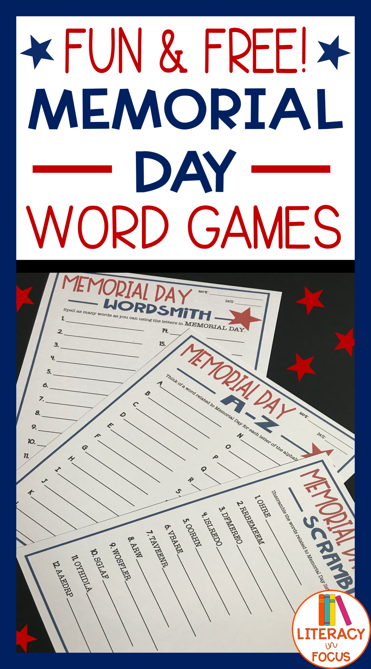 Memorial Day Freebie Honor Memorial Day With Word Games Three Different Word Games For Memorial Memorial Day Activities Memorial Day Kindergarten Worksheets [ 2249 x 1249 Pixel ]