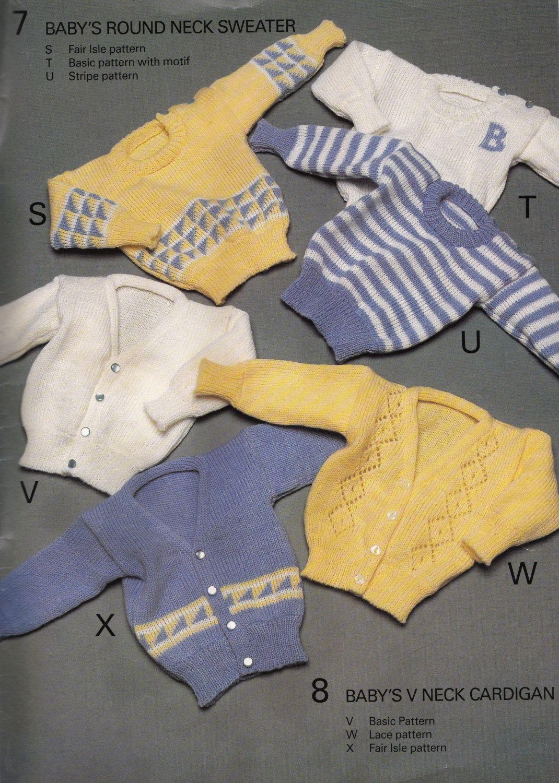 Vintage BOND Knitting Machine Pattern Instructions for Babies ...