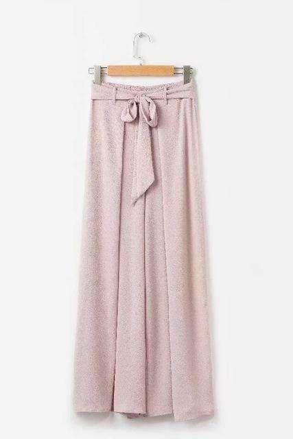 39ef7d54921f Summer 2018 New Vacation Boho Style Wide Leg Pants Women s Loose Split Long  Trousers High Waist