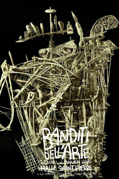 "la halle saint pierre, paris, exhibition ""banditi dell'arte"" (italian outsider art) till january 6, 2013."