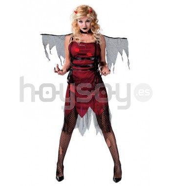 Original #disfraz de ángel caído de #mujer para disfrutar de tu fiesta de #Halloween #Disfraces