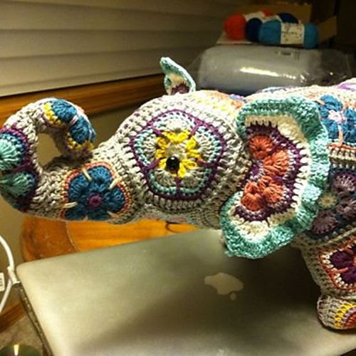 Nellie The Elephant African Flower Pattern By Heidi Bears African