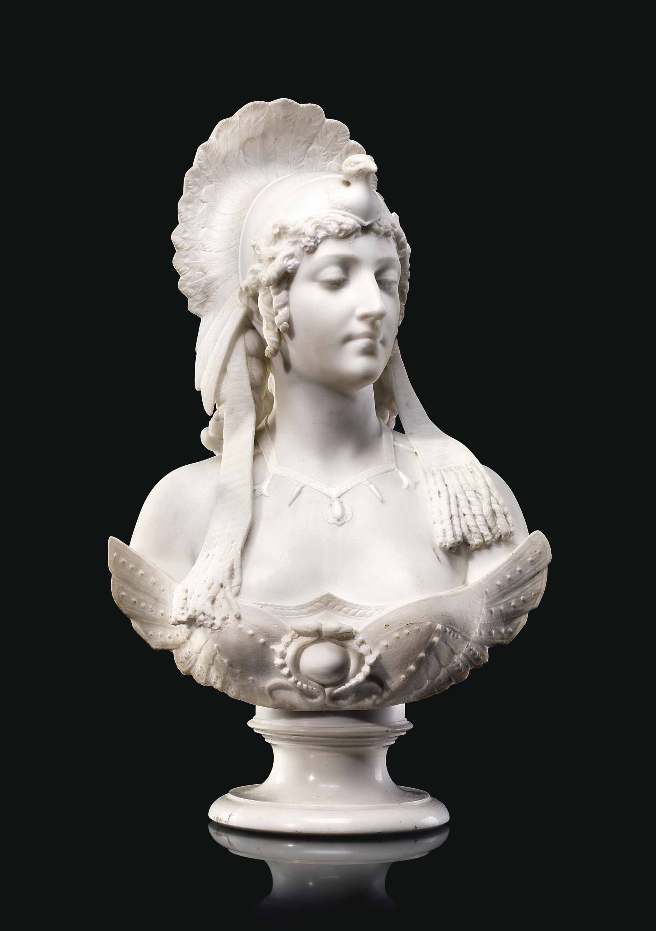 An Italian Marble Bust Of Cleopatra Circa 1900 Bust Marble Christie S Marble Bust Italian Marble Bust