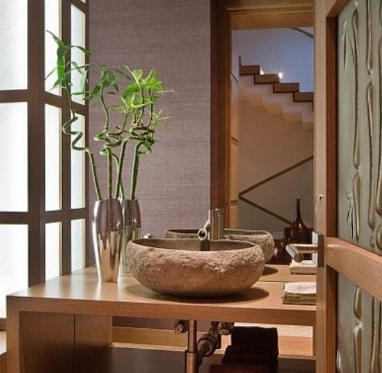 El encanto natural de los lavabos de piedra blog entorno ba o ba os lavabos y ba os - Banos con piedra natural ...