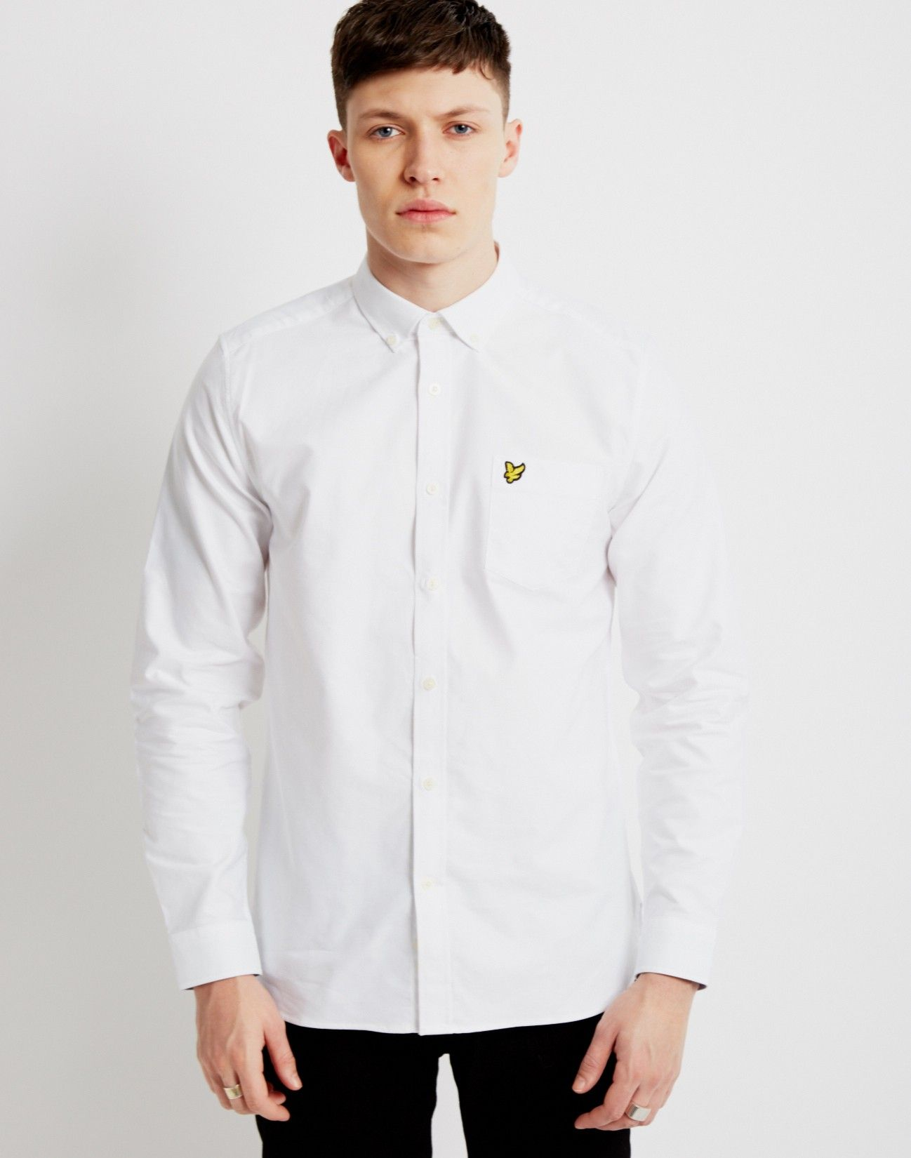 a688cee51 Lyle & Scott Long Sleeve Oxford Shirt White | Shop menswear clothing at The  Idle Man