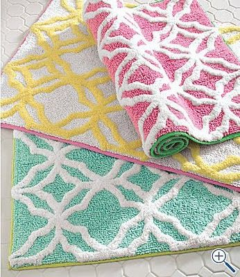 Amazing Lilly Pulitzer   We Got Bathroom Rugs In The Teal    They Are Awesome!